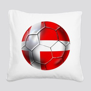 Danish Football Square Canvas Pillow