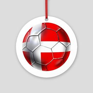 Danish Football Ornament (Round)