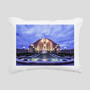 Cincinnati Union Termina Rectangular Canvas Pillow