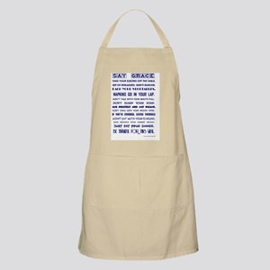 SAY GRACE Apron