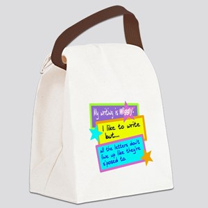 Wiggly Writing/kids Canvas Lunch Bag