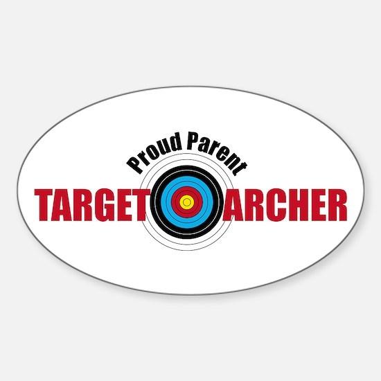 Proud parent target archer sticker oval