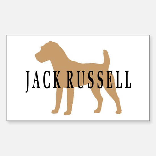 Jack Russell Terrier Rectangle Decal