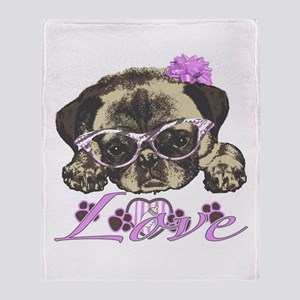 Pug in Pink. For any one that loves Throw Blanket