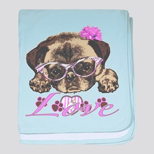 Pug in Pink. For any one that loves p baby blanket