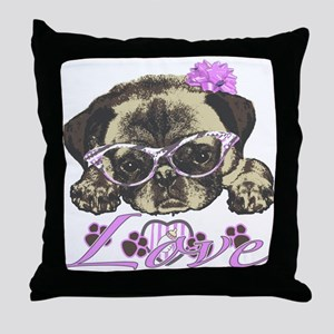 Pug in Pink. For any one that loves p Throw Pillow