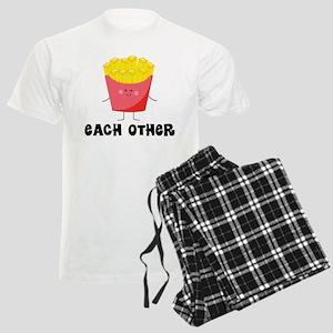 Fries and Hamburger Men's Light Pajamas