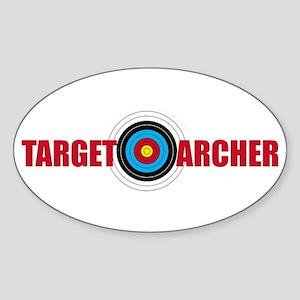 Target Archer Sticker (Oval)