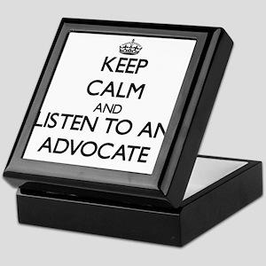 Keep Calm and Listen to an Advocate Keepsake Box