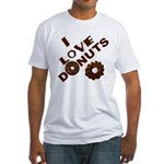 I Love Donuts! Fitted T-Shirt