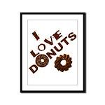 I Love Donuts! Framed Panel Print