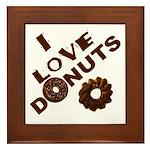 I Love Donuts! Framed Tile