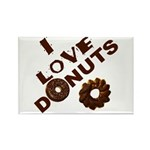 I Love Donuts! Rectangle Magnet