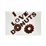 I Love Donuts! Rectangle Magnet (10 pack)