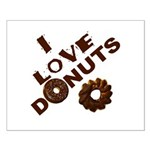 I Love Donuts! Small Poster