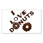 I Love Donuts! Rectangle Sticker