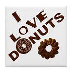 I Love Donuts! Tile Coaster
