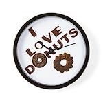 I Love Donuts! Wall Clock