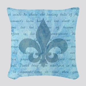 SHALL I COMPARE THEE... Woven Throw Pillow