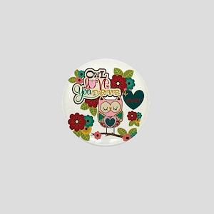 Owl Love Forever Mini Button
