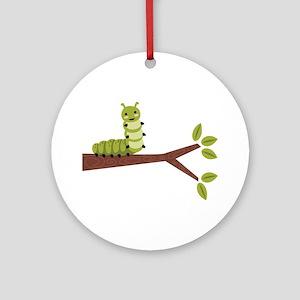 Caterpillar on Twig Ornament (Round)
