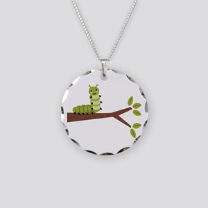 Caterpillar on Twig Necklace