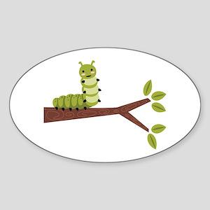 Caterpillar on Twig Sticker