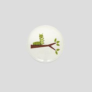 Caterpillar on Twig Mini Button