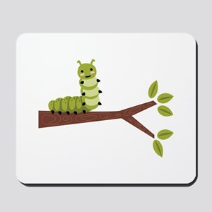 Caterpillar on Twig Mousepad