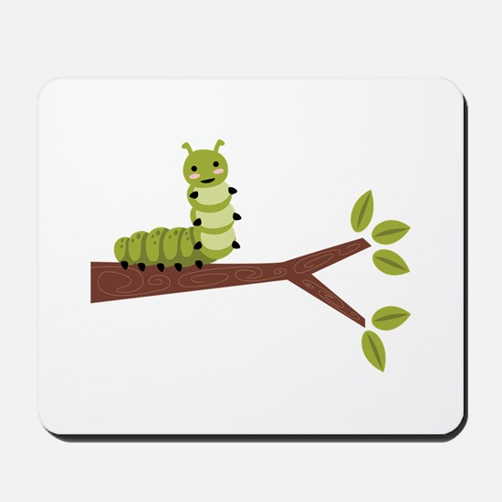 Caterpillar on Twig Mousepad