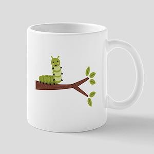Caterpillar on Twig Mugs