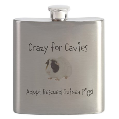Adopt a Rescued Guinea Pig Month Flask