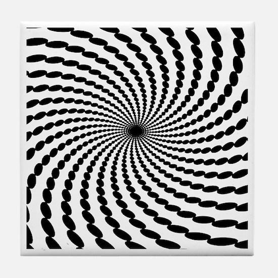 Hypnotic Spiral Tile Coaster