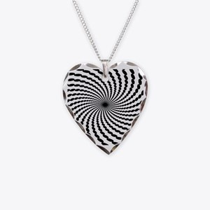 Hypnotic Spiral Necklace Heart Charm