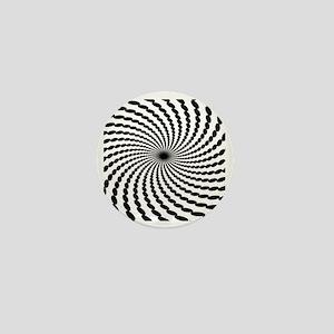 Hypnotic Spiral Mini Button