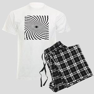 Hypnotic Spiral Men's Light Pajamas