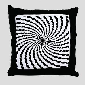 Hypnotic Spiral Throw Pillow