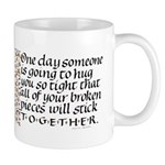 Hugs Quote Mug