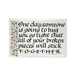 Hugs Quote On Rectangle Magnet (10 Pack) Rectangle