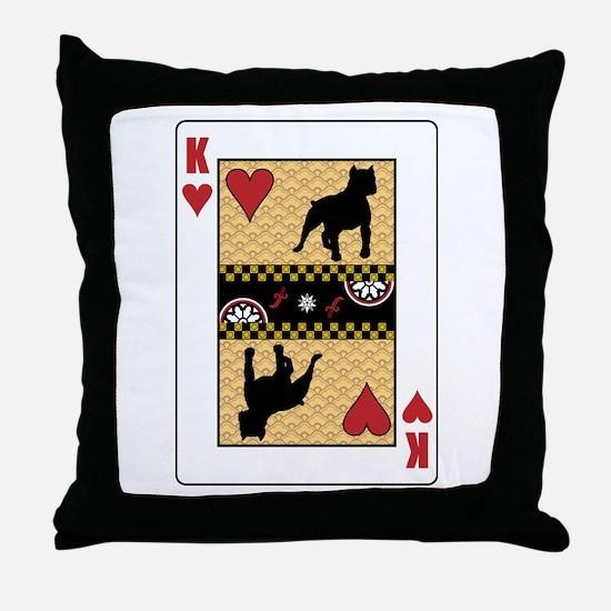 King Pit Bull Throw Pillow