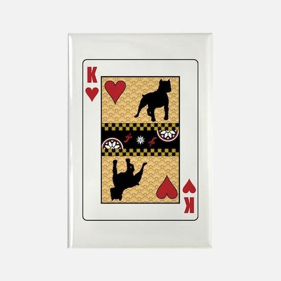 King Pit Bull Rectangle Magnet (100 pack)