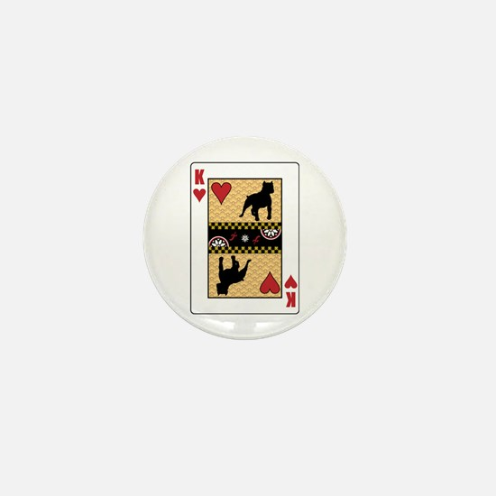 King Pit Bull Mini Button