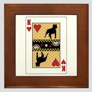 King Pit Bull Framed Tile