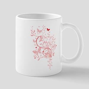 PINK BUTTERFLY SWIRLS Mug