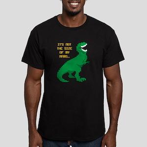 8 Bit T-Rex Short Arms Men's Fitted T-Shirt (dark)
