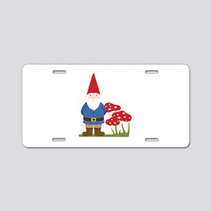 Garden Gnome Aluminum License Plate