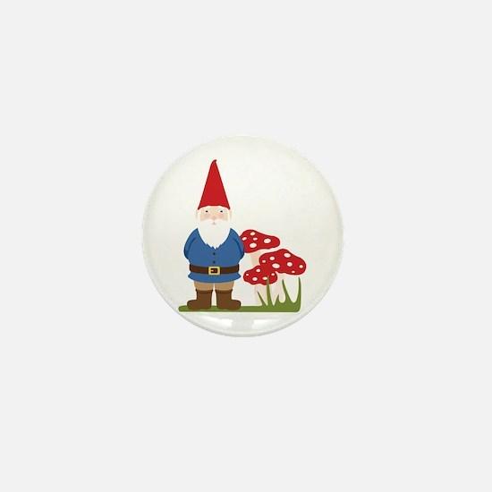 Garden Gnome Mini Button