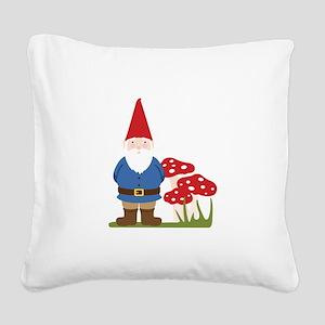 Garden Gnome Square Canvas Pillow