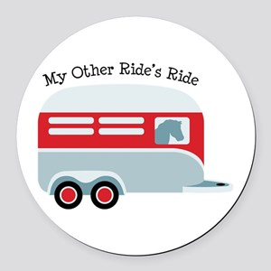 My Other Rides Ride Round Car Magnet
