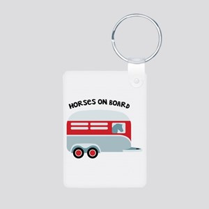 HORSES ON BOARD Keychains